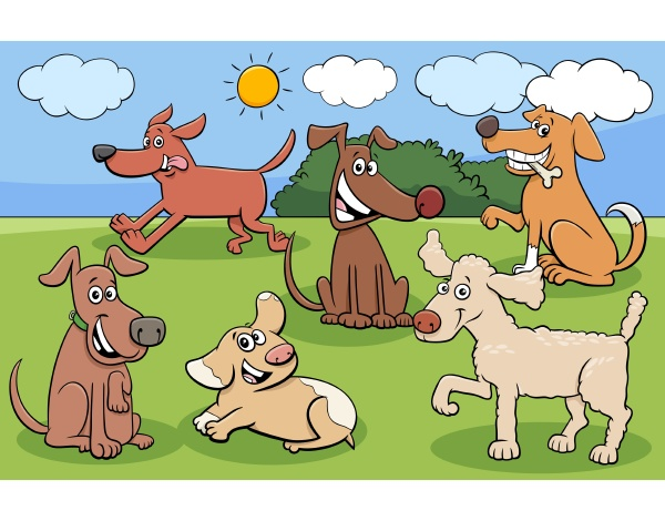 cartoon hunde und welpen lustige charaktere