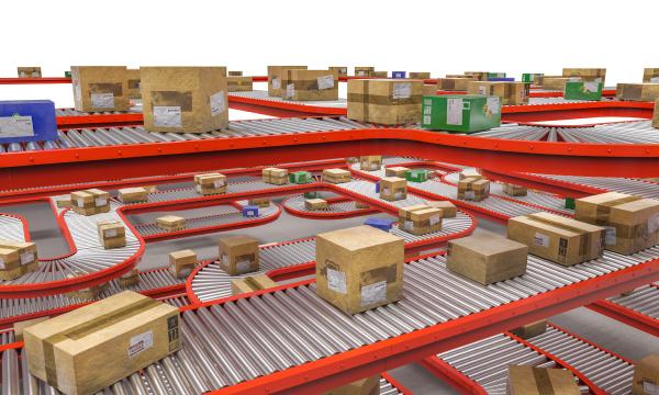 industrielle foerderrollen mit unterschiedlichen verpackungen unterschiedlicher