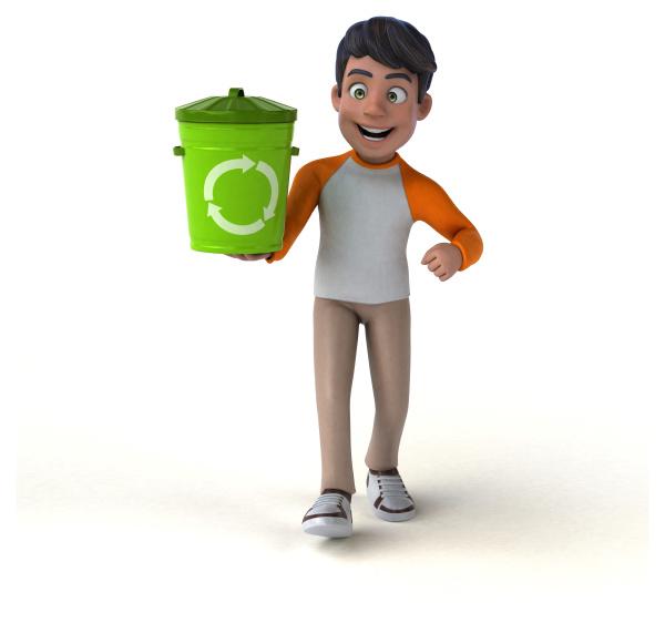 lustiger 3d cartoon asiatischer teenager