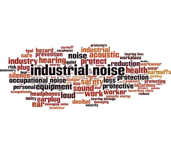 industrielles rauschen wortwolke konzept collage aus