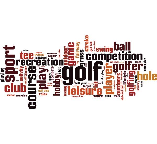 golf wort wolke