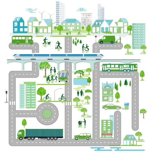 stadtstrasse gemeinde stadtplan vektor illustration