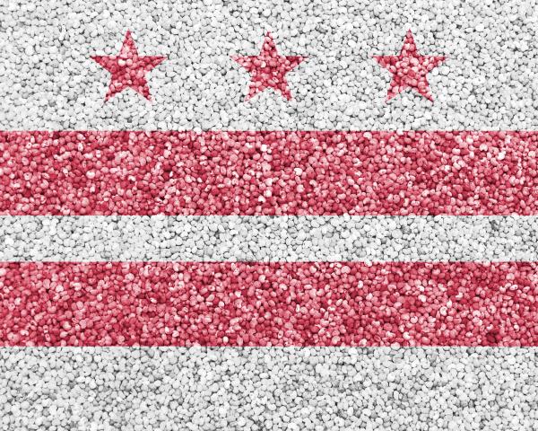 flagge von washington dc auf mohn