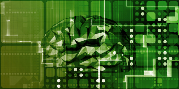 gehirntechnologie fuer wissenschaft abstrakten digitalen hintergrund
