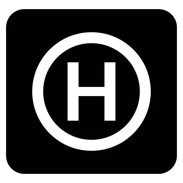 hubschrauber landeplatz hubschrauber platz symbol schwarz
