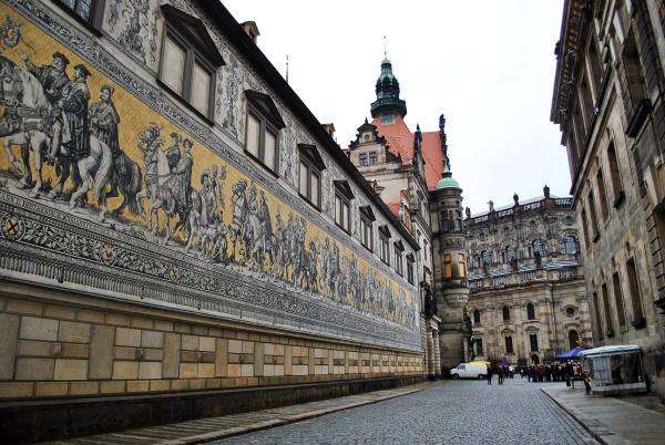 historische strassen der dresdner altstadt
