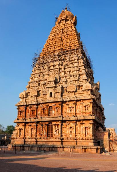 brihadishwarar tempelturm vimana thanjavur tamil nadu