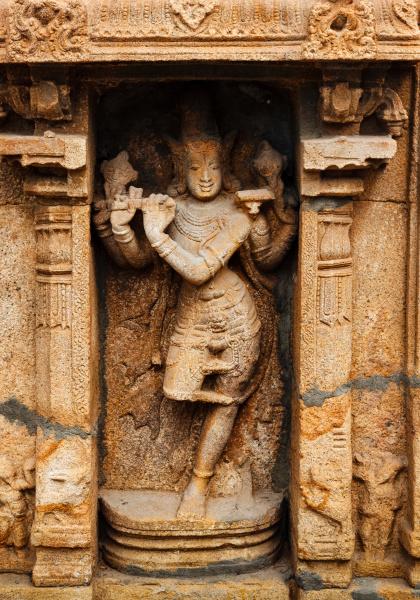 krishna, bas, relief, im, hindu-tempel., sri - 28388099