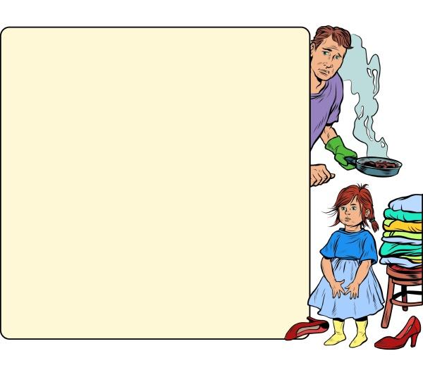 der vater sitzt mit kindern und