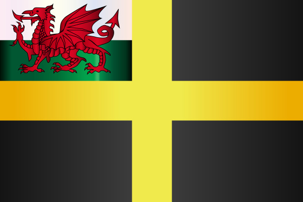 flagge von saint david of wales