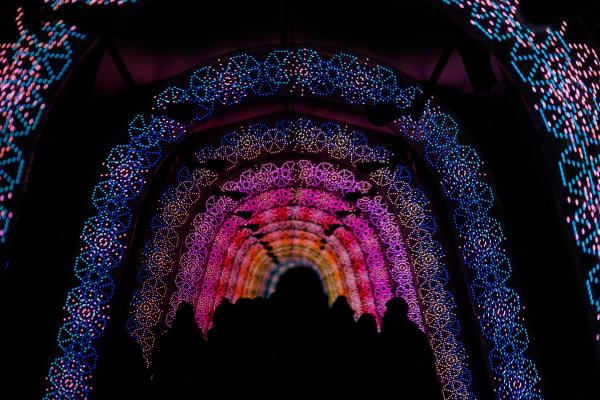 licht des tunnels weihnachtsbeleuchtung