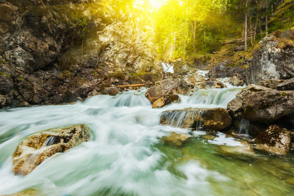 kaskade von kuhfluchtwasserfall farchant