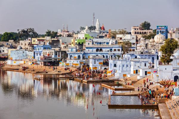 hindu anhaenger baden im heiligen puskhar