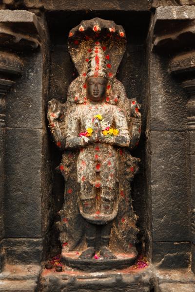 vishnu bild im hindu tempel arunachaleswarar