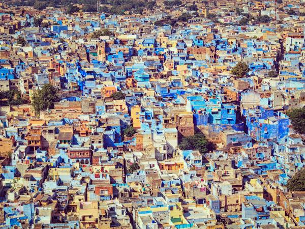 jodhpur the blue city rajasthan indien