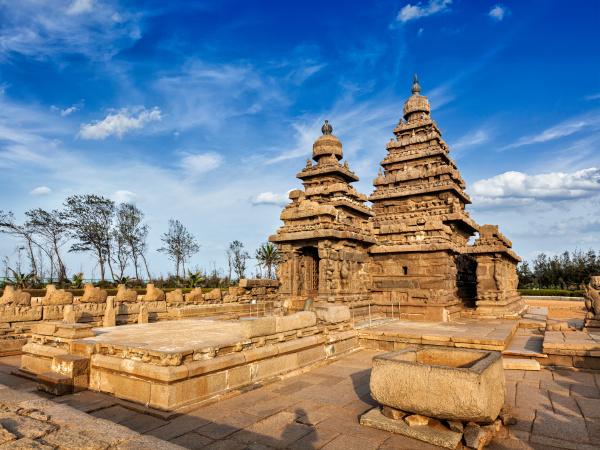 ufertempel weltkulturerbe in mahabalipuram tamil