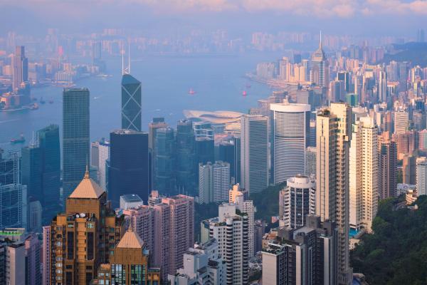 hong kong wolkenkratzer skyline stadtbild ansicht