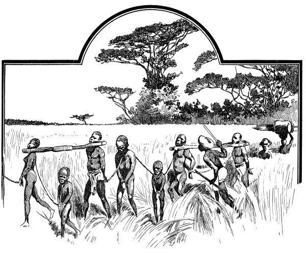 gruppe gefangener sklaven illustration des