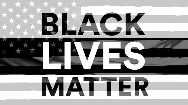 black lives matter nachrichtentext mit schwarz