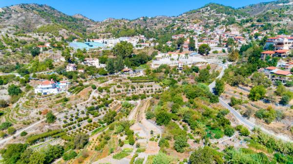 aerial agros village limassol zypern