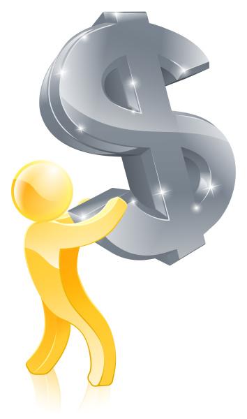 dollar zeichen geld mann