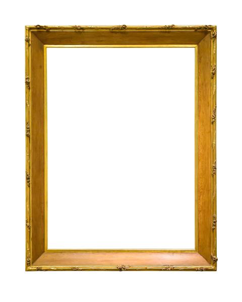 hoelzerne dekorative bilderrahmen mit goldenen eindrorten