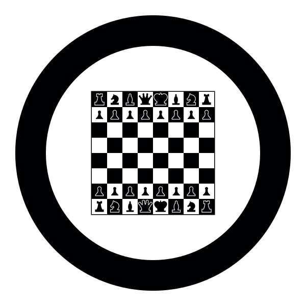 schachbrett und schachfiguren linie figuren symbol