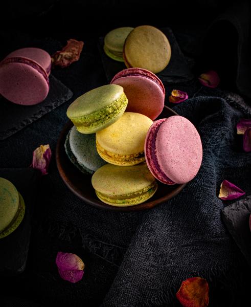 klassische koklatvolle franzoesische macarons
