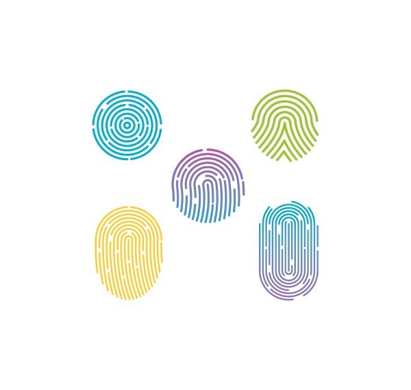 fingerabdruck illustration vektor vorlage