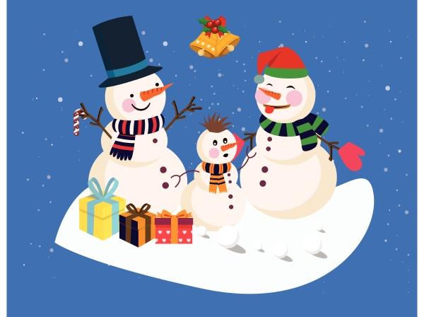 schneemann im winter geniessen die weihnachten