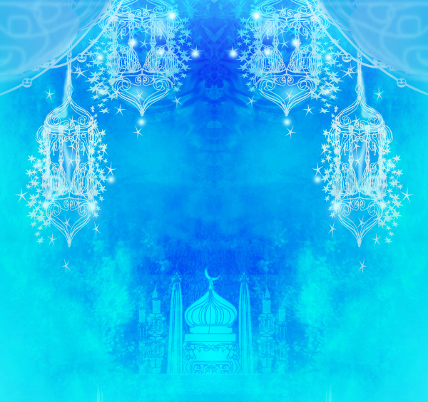 ramadan kareem urlaub grusskarte design