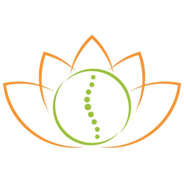 blaetter pflanze wirbelsaeule heilpraktiker chiropraktiker logo