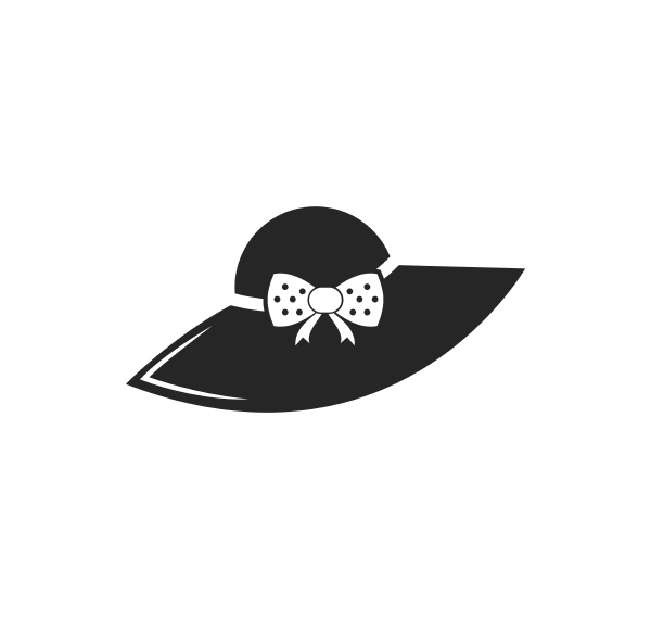 frau hut symbol logo vektor illustration