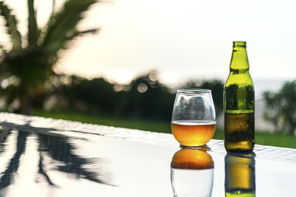open, beer, left, at, edge, of - 28744677