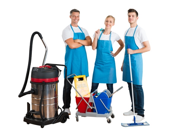 cleaning service professional janitor team