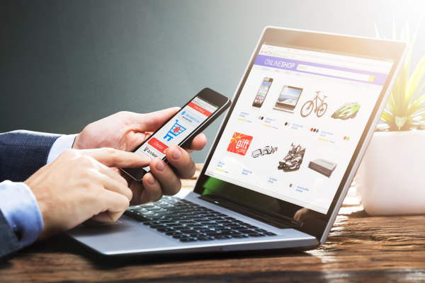 online ecommerce shopping website oder store
