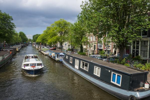 niederlande provinz nordholland amsterdam boote am