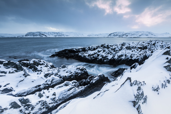 coastal, landscape, in, winter, , berlevag, , norway - 28763757