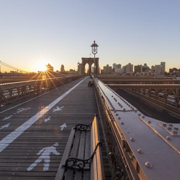 blick ueber die brooklyn bridge new