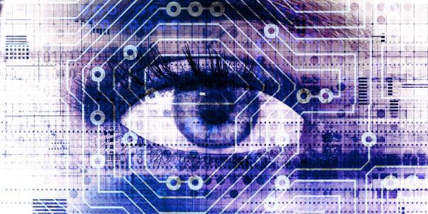 digital eye technology als futuristisches konzept