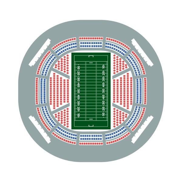american football stadium birds eye view