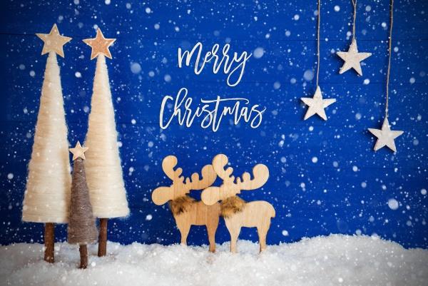 weihnachtsbaum elch schnee stern text frohe