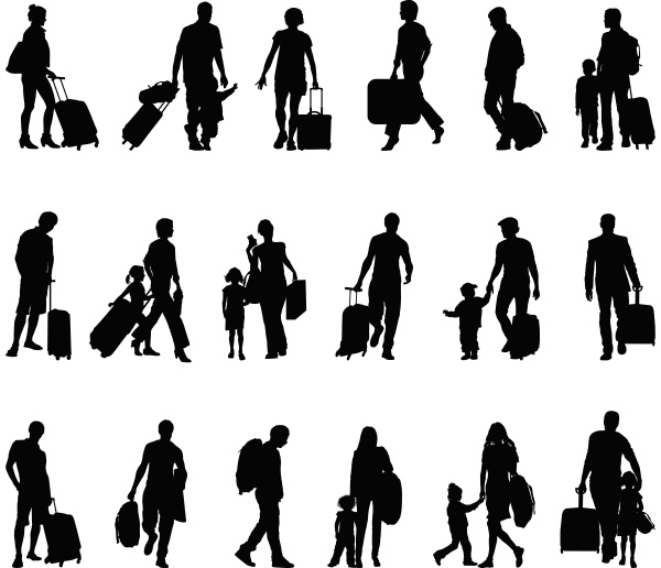 menschen touristen reisende migranten