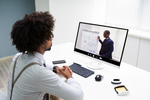 virtuelle online schulungskonferenz