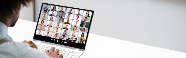 video konferenz geschaeftsanruf african man conferencing