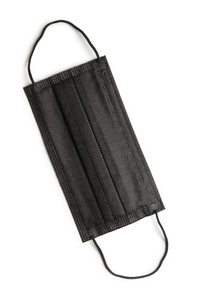 corona virusschutz schwarze medizinische papier gesichtsmaske