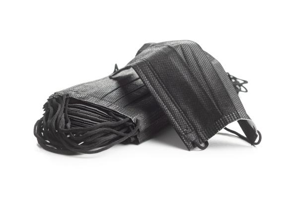 corona virusschutz schwarze medizinische papier gesichtsmasken