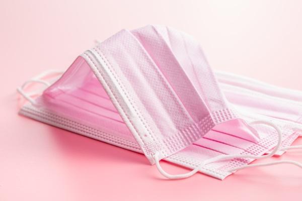 corona virusschutz rosa medizinische papier gesichtsmasken