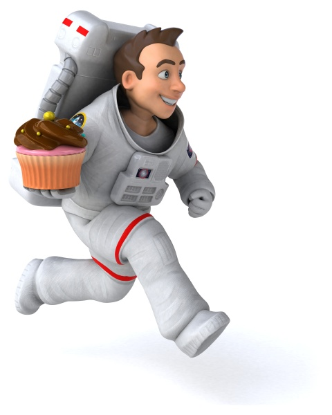 fun, astronaut, , , 3d, illustration - 28912160