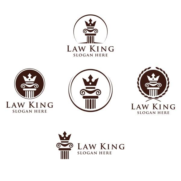 rechts und anwaltskanzlei vector logo